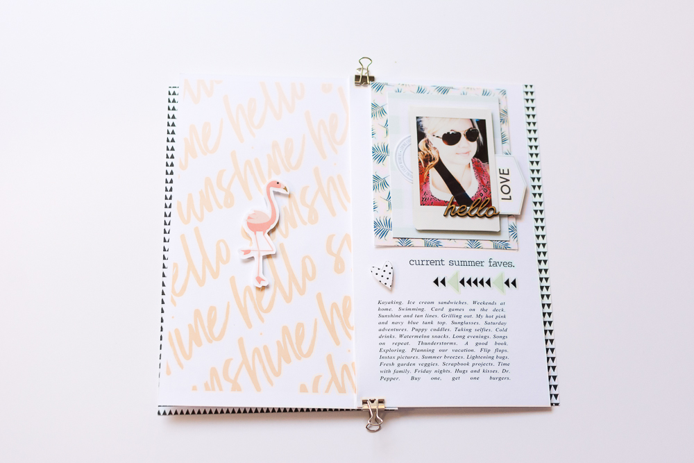 #LittleSummerJoy 2016 | A DIY Mini Album by Mandy Elliott, Turquoise Avenue Celebrating Summer (via LittlePaperProjects.com) featuring designs by One Little Bird and Turquoise Avenue.