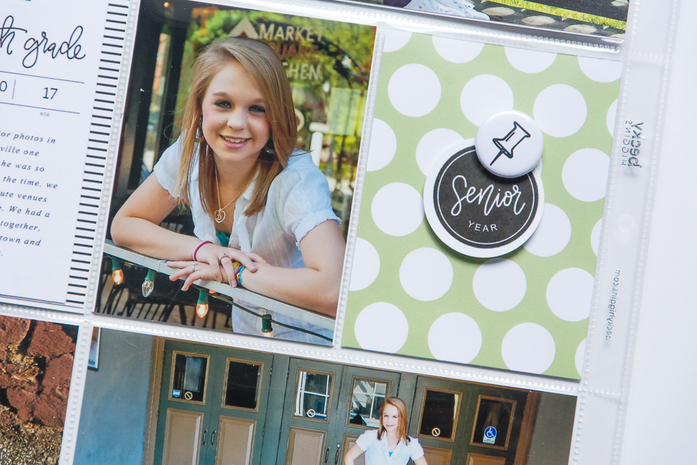 Easy, Simple 9x12 Pocket Page Scrapbook Layout featuring Paislee Press's School Years Collection