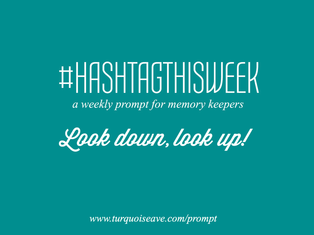 Look Down, Look Up  | Weekly Prompt and Link Up for Memory Keepers and Creative Bloggers