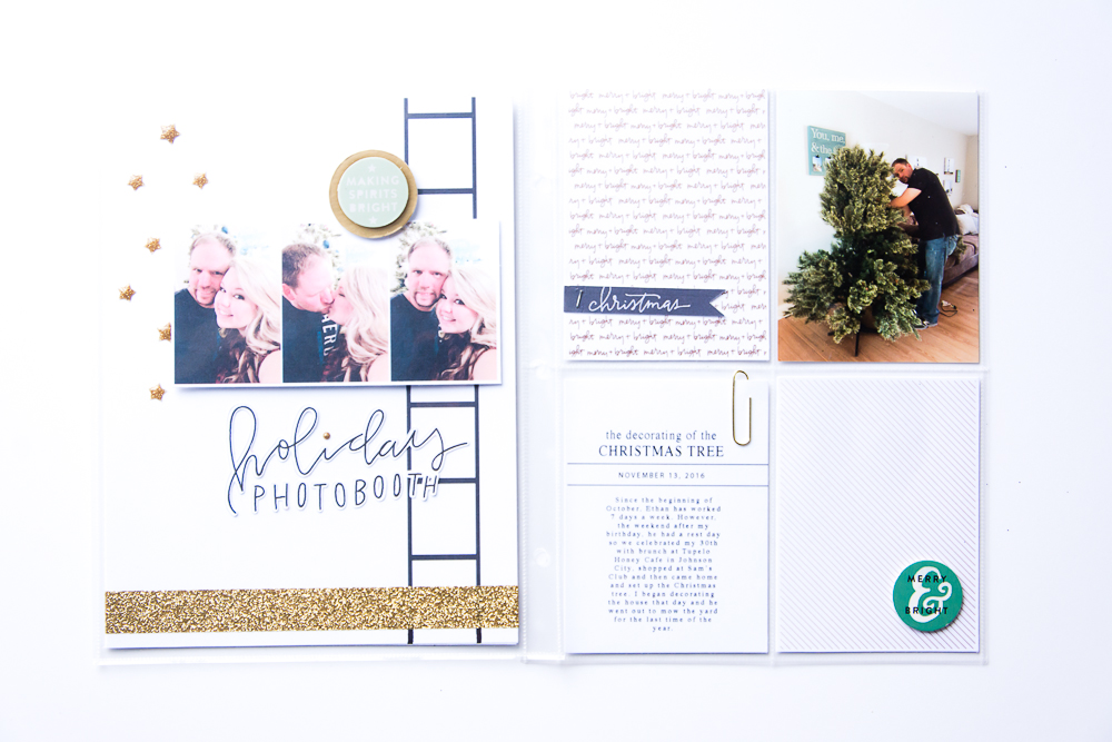 MY 2016 DECEMBER ALBUM - A HOLIDAY MEMORY KEEPING PROJECT FEATURING PAISLEE PRESS DESIGNS.