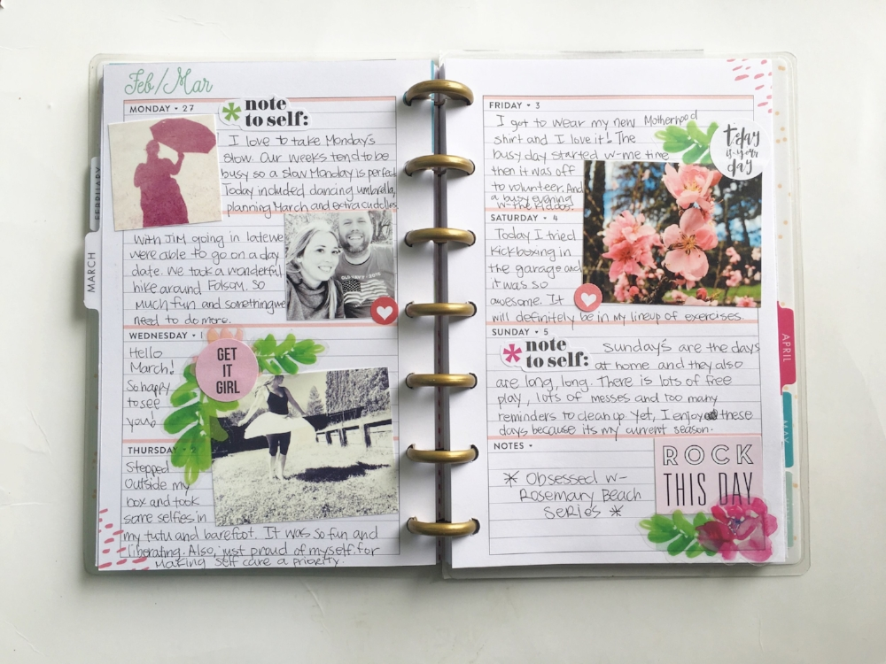 Document Yourself - Inspiration from Sabrina's Digital Designs, tell your story with a planner as featured on Turquoise Avenue! For more ideas, free printables and prompts, check out Mandy Elliott's class YOUnique on Big Picture Classes!