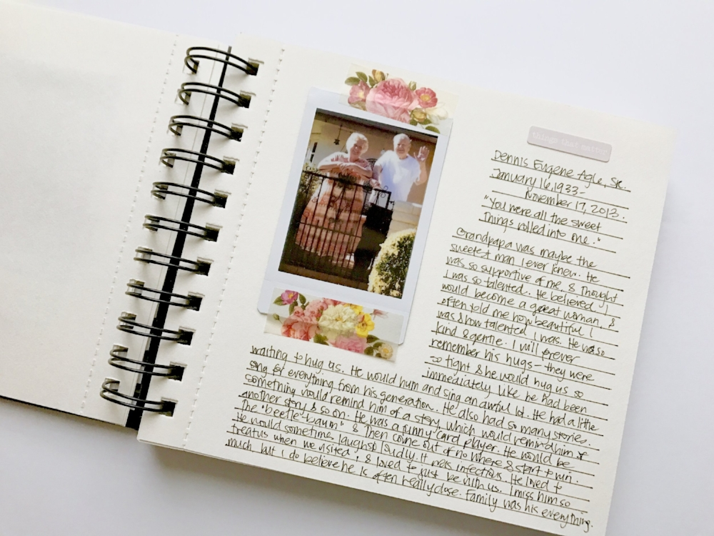 Document Yourself - Inspiration from Katie (@eloisecreates), tell your story with a simple photo journal as featured on Turquoise Avenue! For more ideas, free printables and prompts, check out Mandy Elliott's class YOUnique on Big Picture Classes!