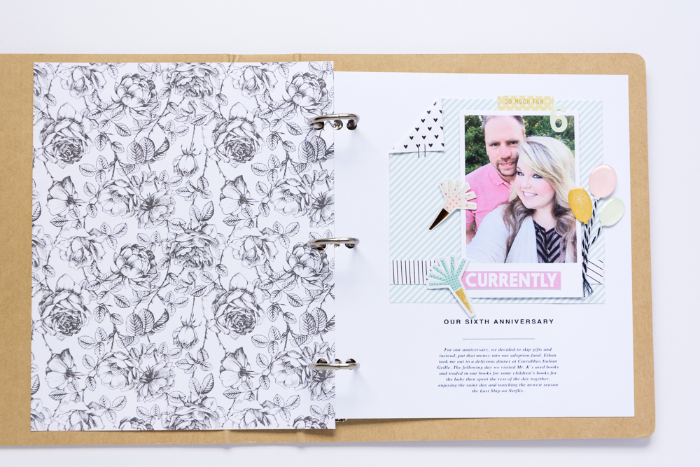 JUNE RELEASE DAY FOR KELLIE STAMPS! | Creating 6x8 Hybrid Scrapbook Pages Using Digital Stamps Collections