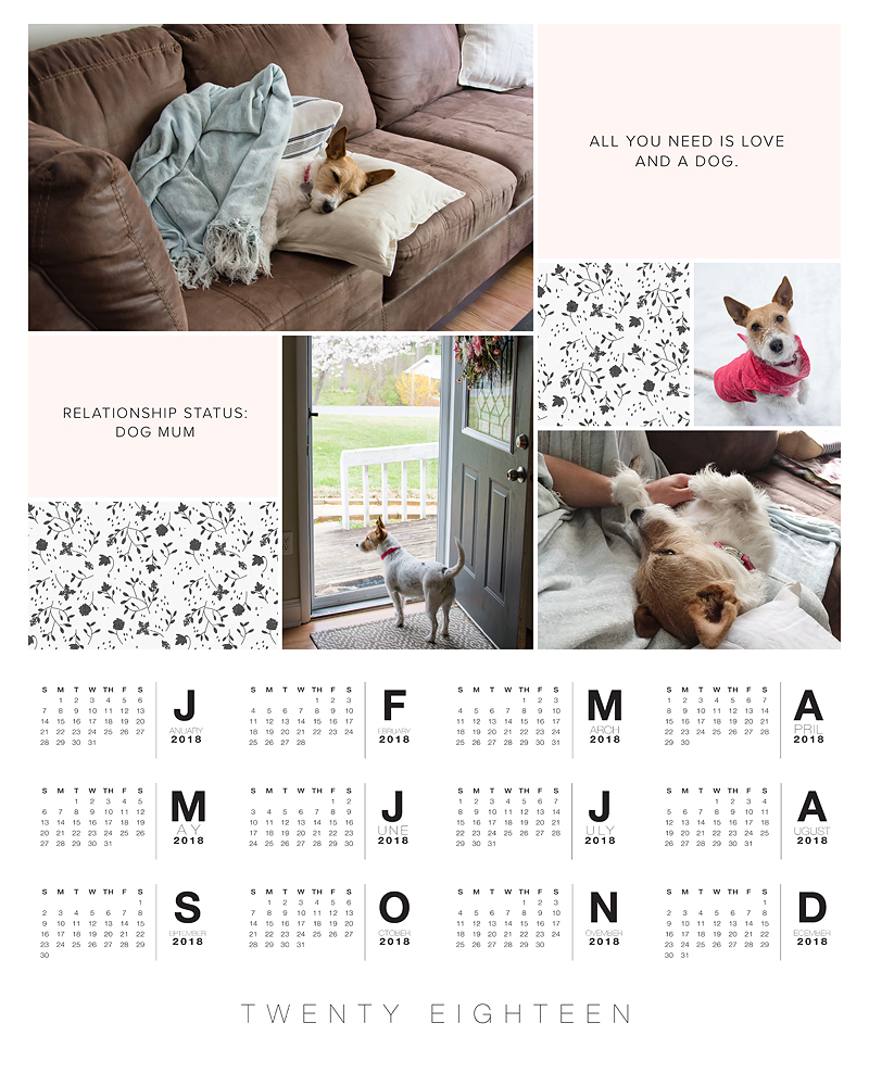 Introducing 2018 Calendar Templates from Paislee Press | A DIY Calendar Project