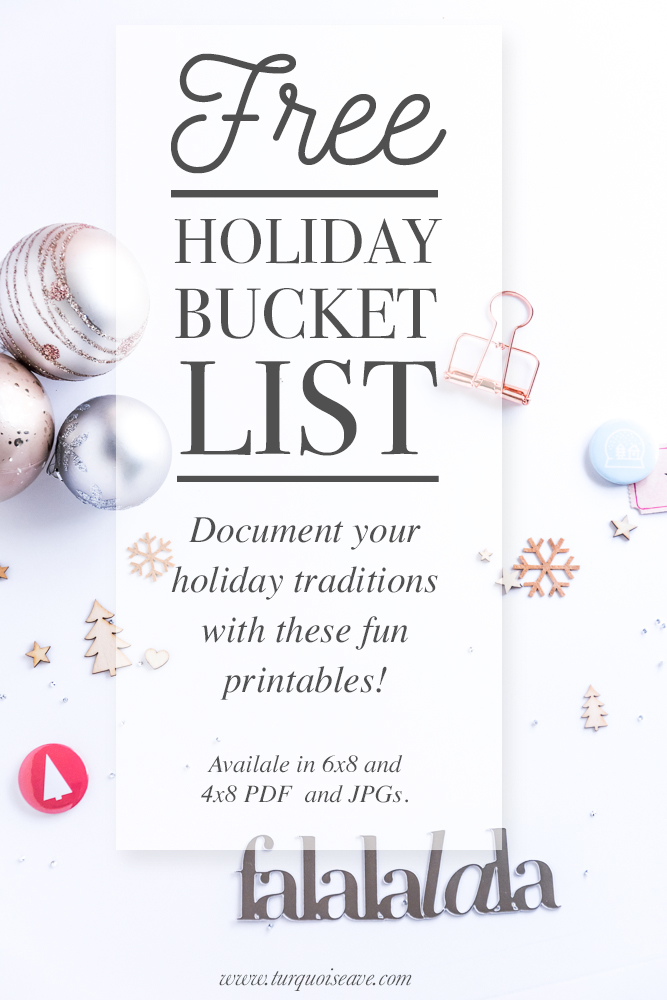 PIN THIS IMAGE! Sharing Holiday Tradition Ideas, download a FREE Holiday Bucket List Printable and get 5 Sundays of FREE Christmas Movies via Pureflix.com!