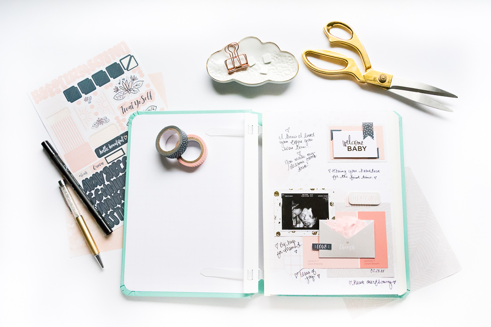 Documenting My Motherhood Journey in the Happy Album by Creative Memories, a trendy collection that includes everything you need to journal, scrapbook and document your day-to-day happy life on the go!