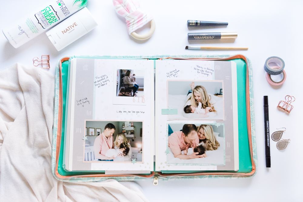 Documenting my motherhood journey on the go with the Happy Album, a Creative Memories all-inclusive journal and scrapbook!