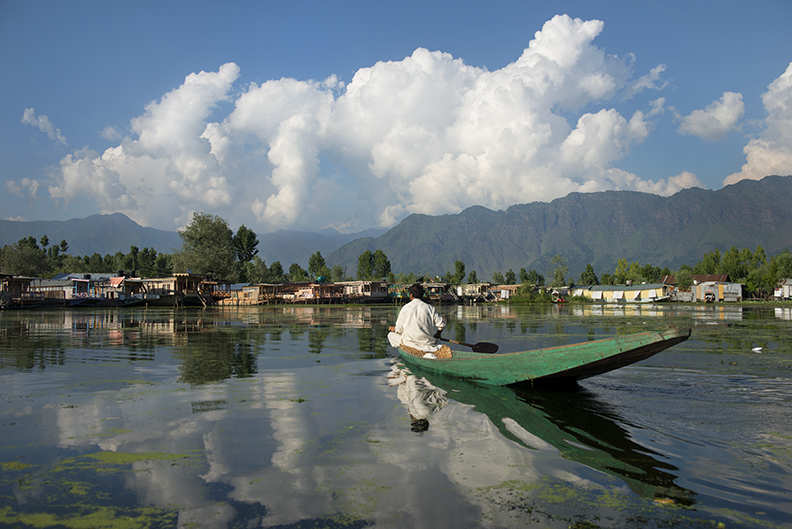 Reflections of Dal Lake