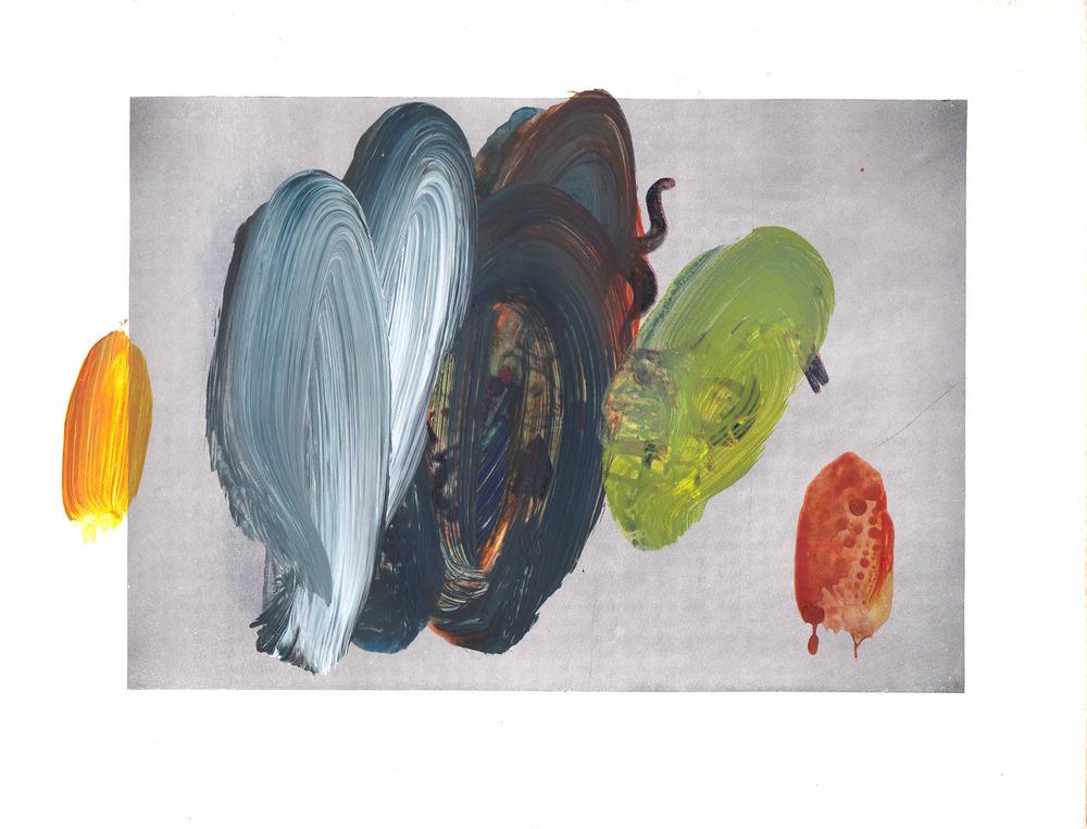 Caroline Pedler Celebration 15 x 21 cm  acrylic on paper  £ 425