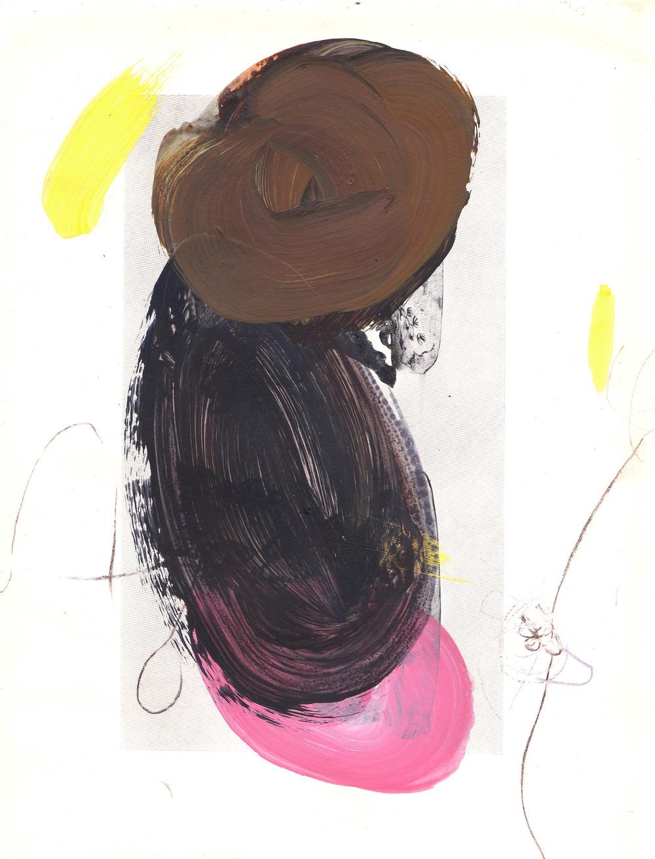 Caroline Pedler I Love You 15 x 21 cm  acrylic on paper  S O L D