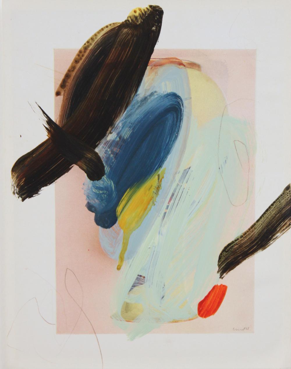 Caroline Pedler Drawn To Swords 15 x 21 cm  acrylic on paper  £ 425