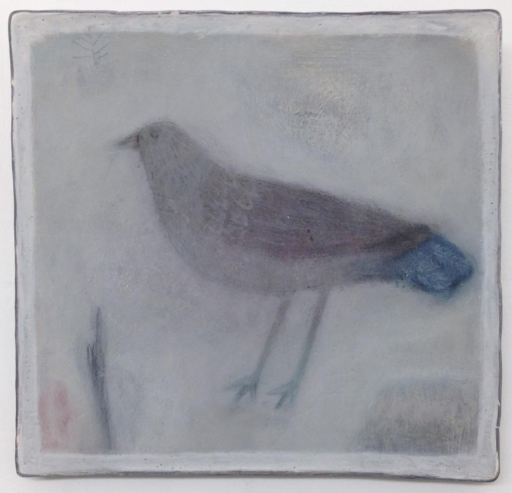 Jo Kehyaian Bird with blue tail  S O L D