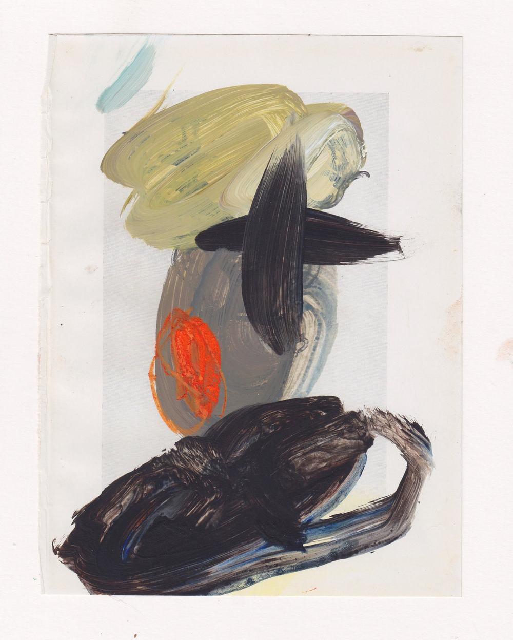Caroline Pedler Escape 15 x 21 cm acrylic on paper £ 425