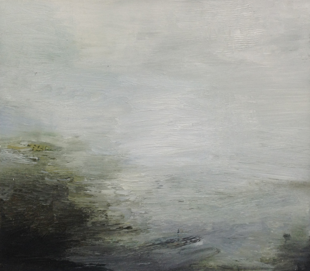 Gareth Edwards RWA First Light, First Boat Out 50 x 45 cm oil on canvas £ 1750