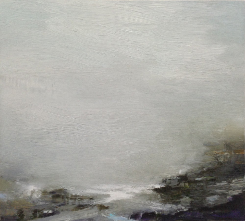 Gareth Edwards RWA Incoming Sea, Granite Cove 50 x 45 cm oil on canvas £1750