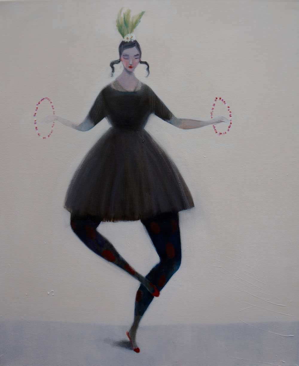 Kristin Vestgard Where will this lead oil on canvas 60 x 50 cm £ 2650