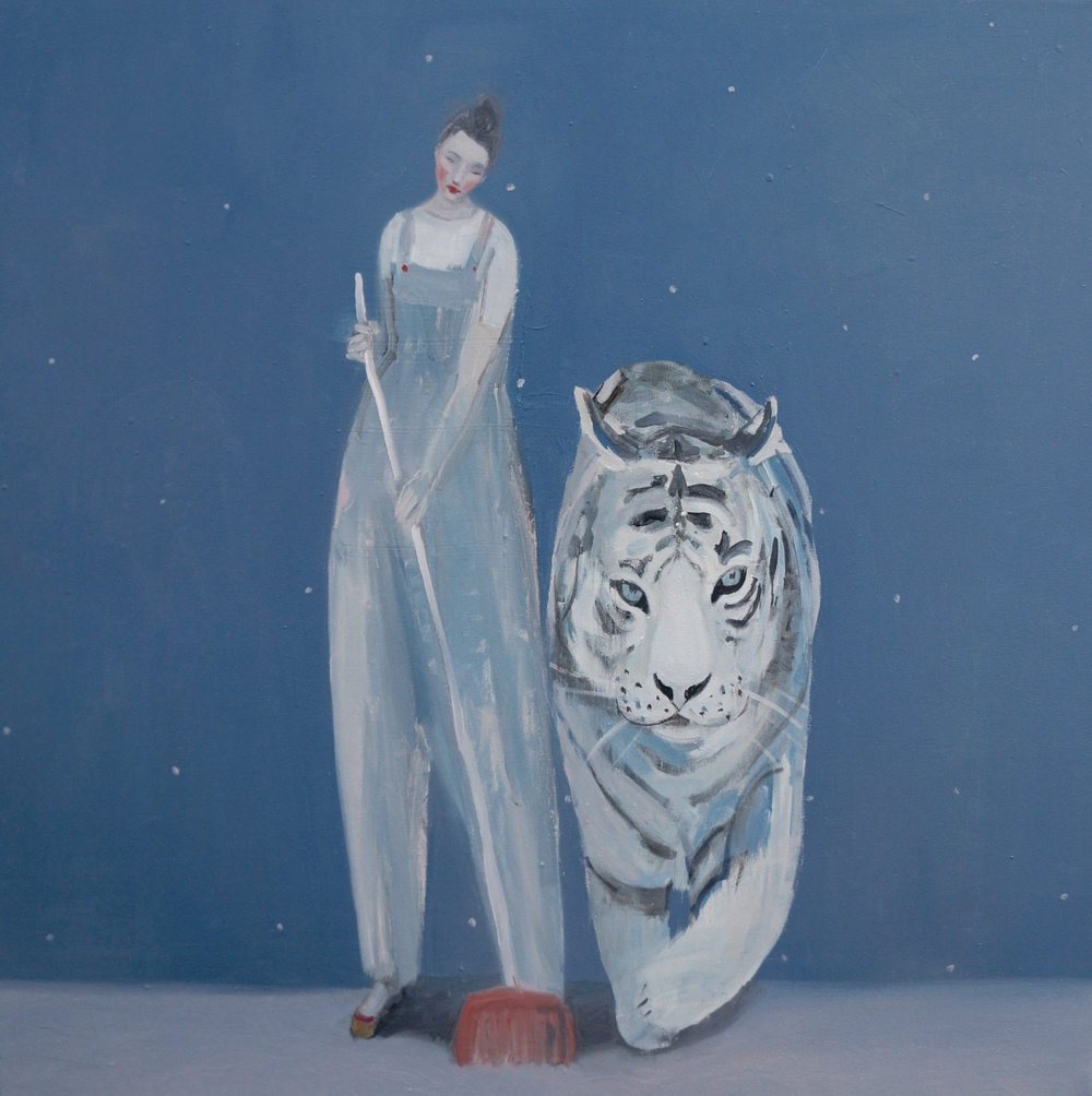 Kristin Vestgard Each Others oil on canvas 70 x 70 cm £ 3000