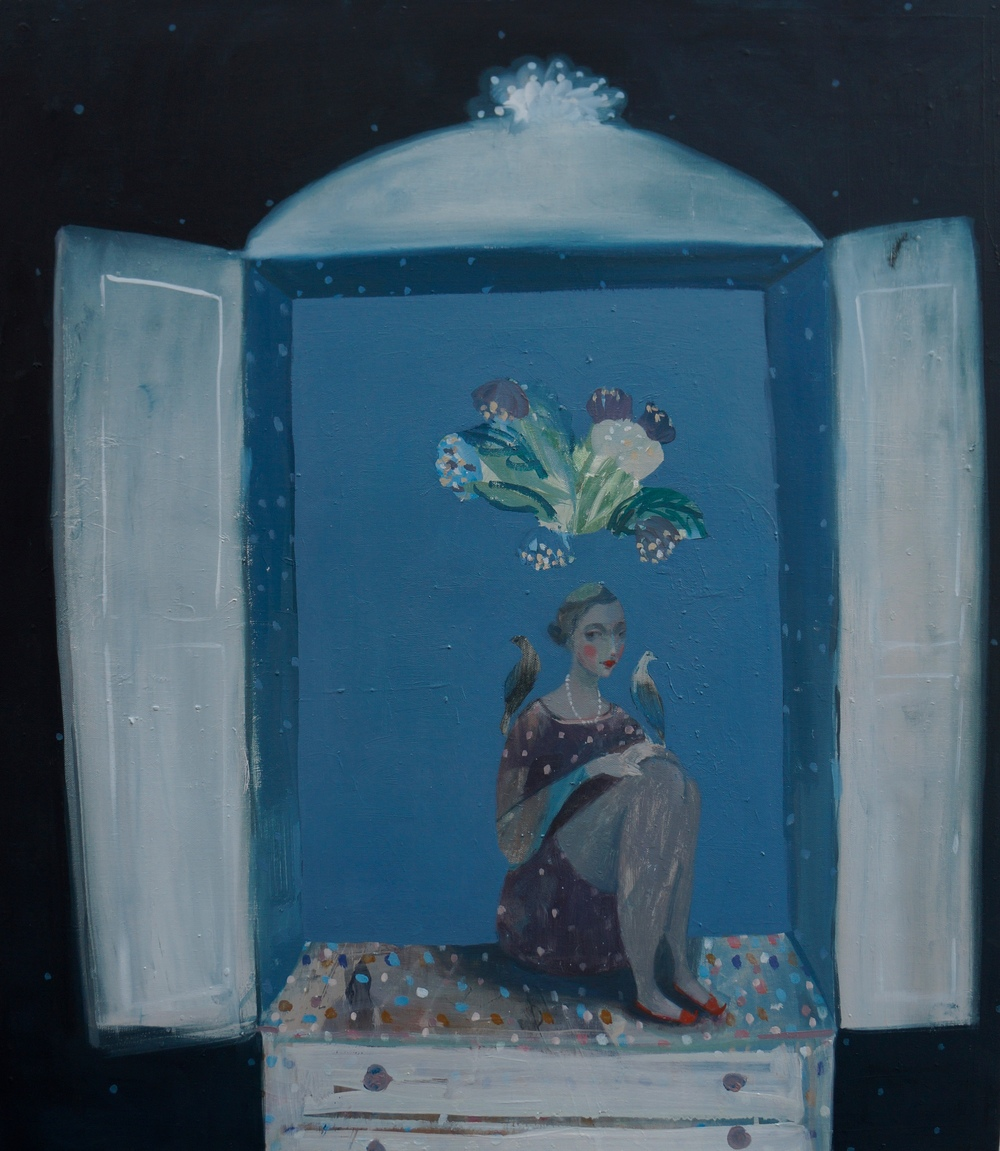 Kristin Vestgard Hidden Oracle oil on canvas 70 x 80 cm £ 3250