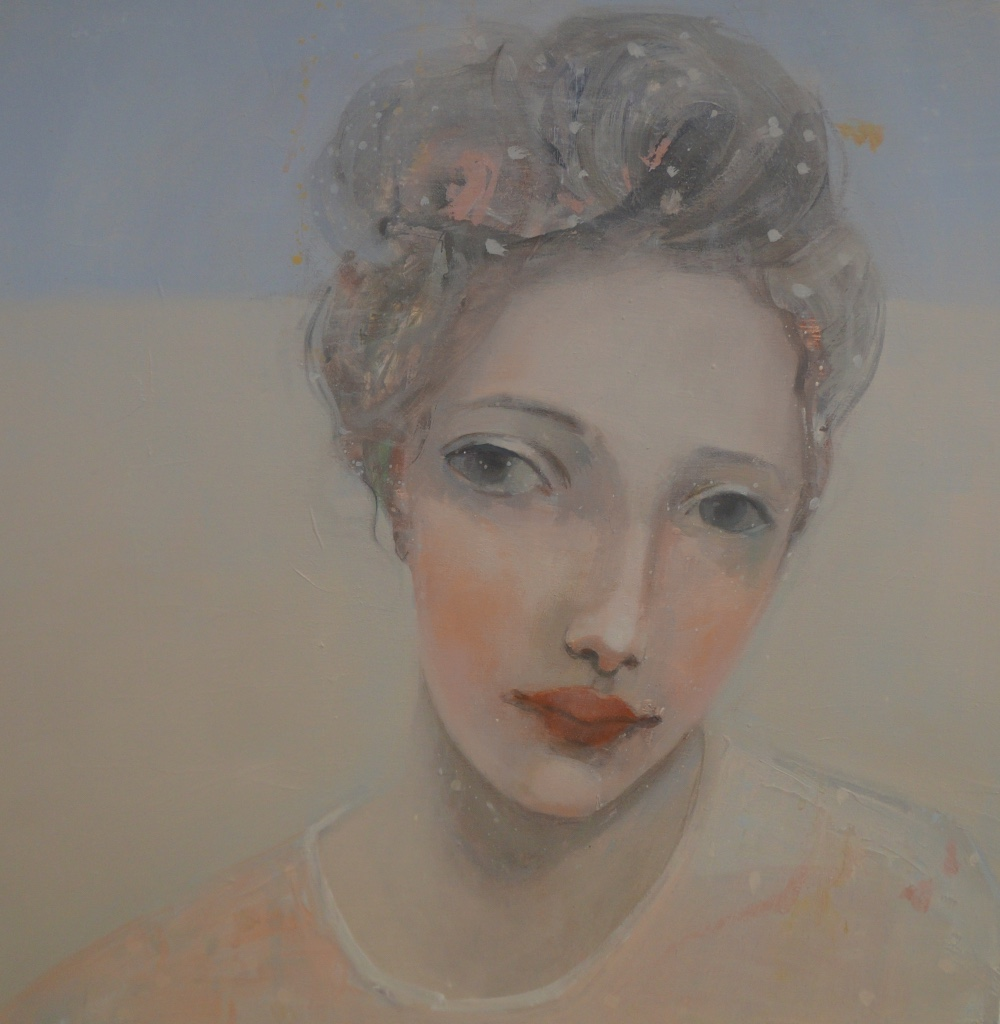 Kristin Vestgard I see oil on board 40 x 40 cm (framed) £ 2150
