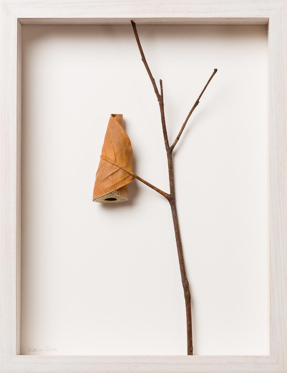 Susanna Bauer Keep II 34.2 x 26.3 x 5 cm magnolia leaf & cotton yarn £ 950