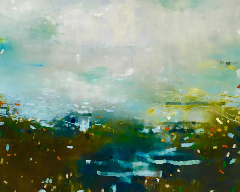 Jane Ansell Waters Edge 155 x 122 cm oil on canvas £ 4000