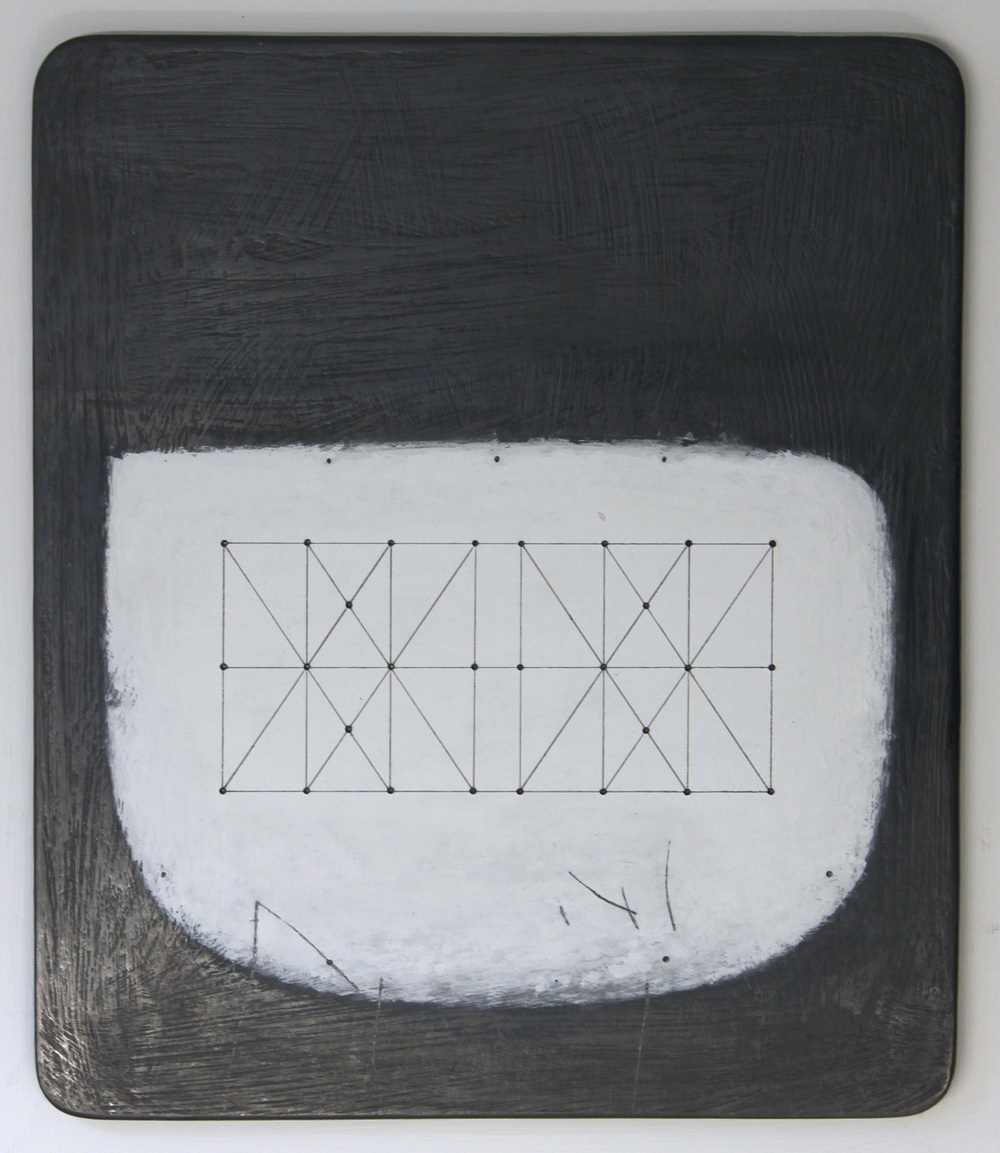 Paul Fry Untitled Space - Box Kite - 28.1 25 x 34 cm oil, graphite & gouache on wood £ 450