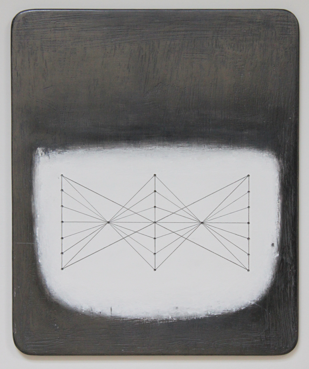 Paul Fry  Tidal Water oil, graphite & gouache on wood 20 x 27 cm  S O L D