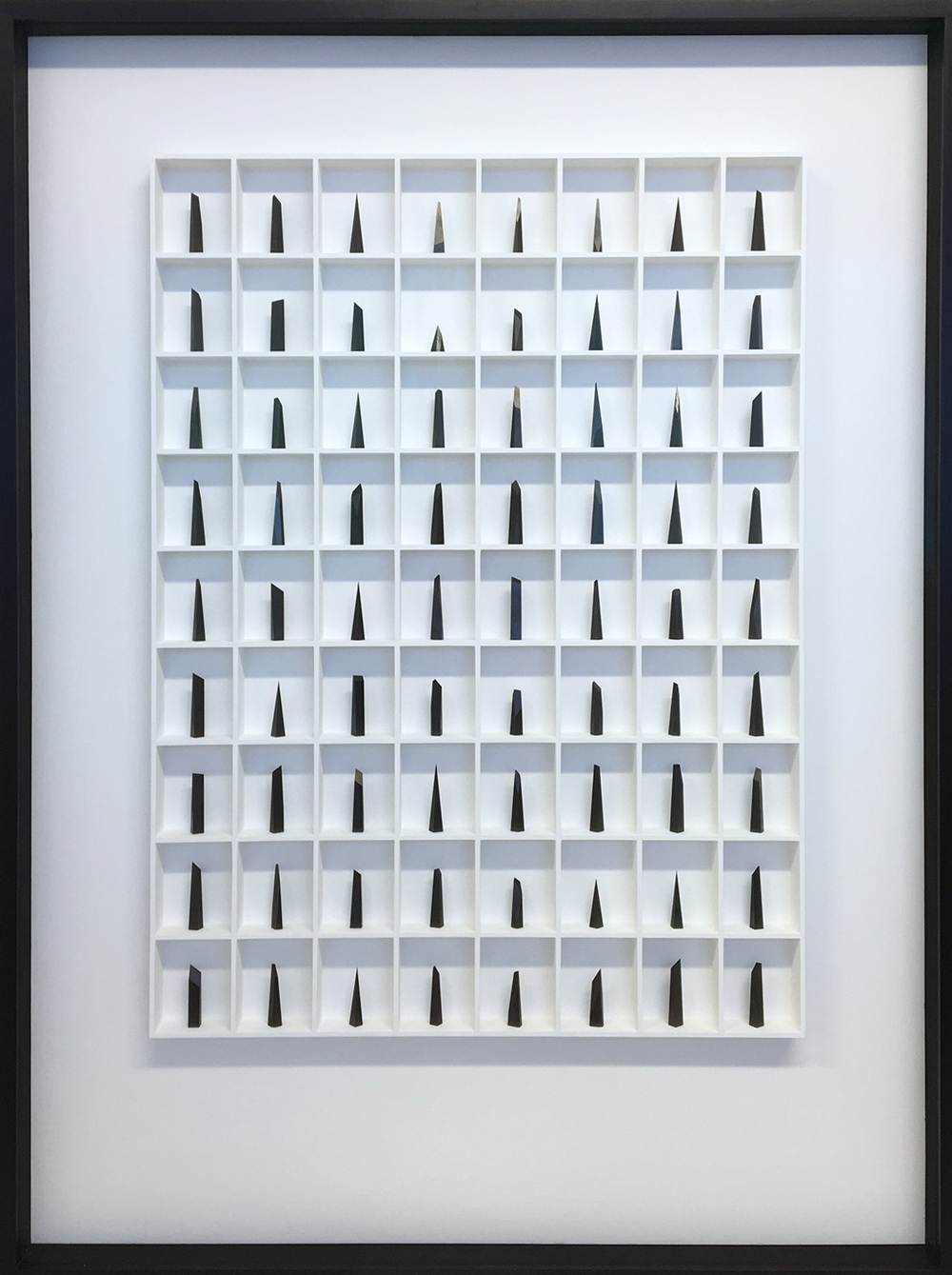 Paul Fry Hope - 72 pieces of graphite 107 x 7 x 144 cm graphite in wood construction £ 6000