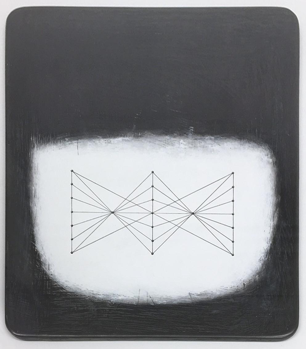 Paul Fry Tidal water 23.1 20 x 24 cm oil, gouache & graphite on wood panel  SOLD