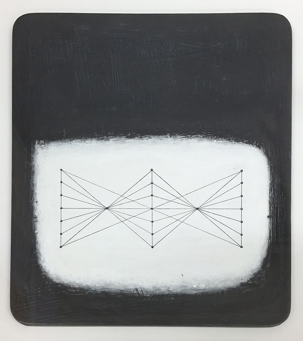 Paul Fry Tidal water 23.4 20 x 24 cm oil, gouache & graphite on wood panel £ 450