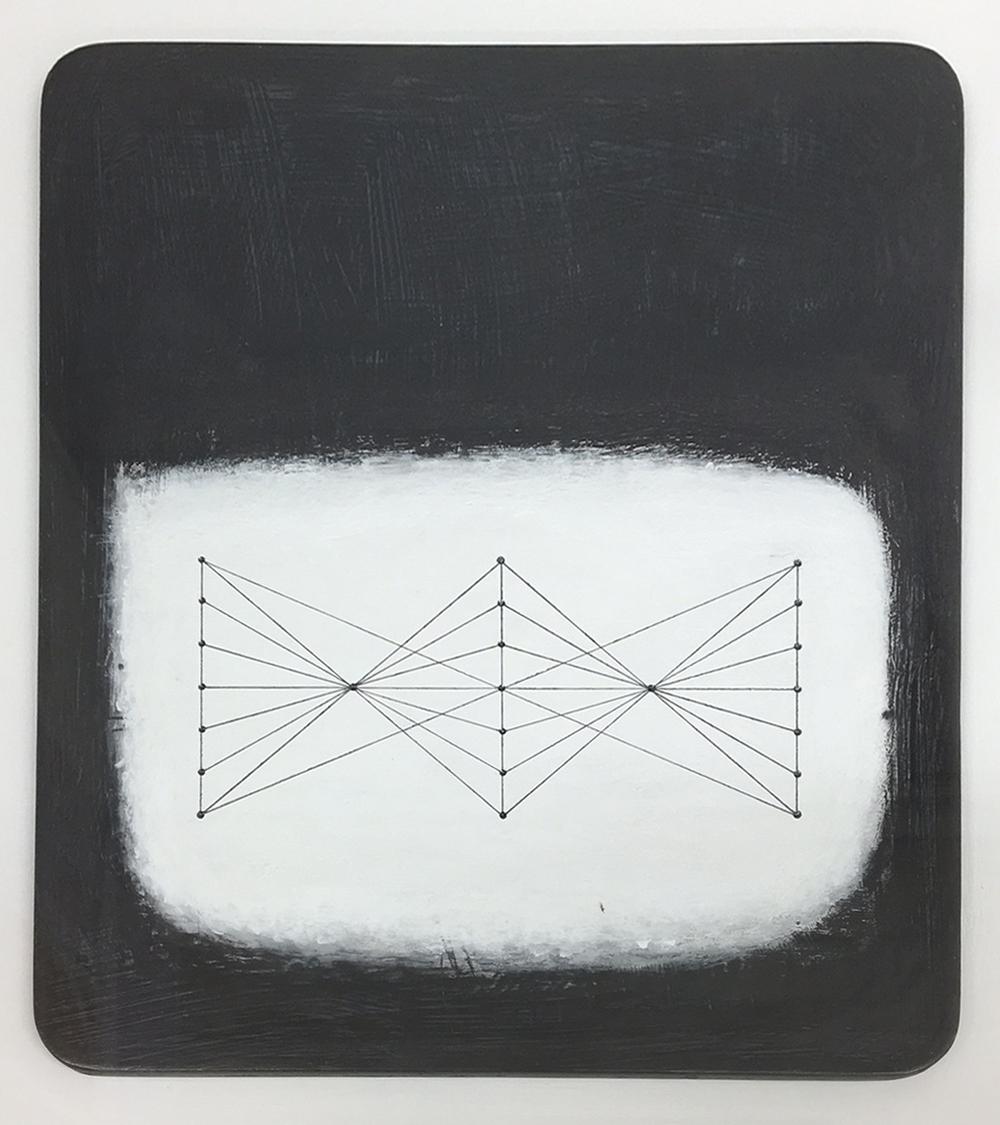 Paul Fry Tidal water 23.4 20 x 24 cm oil, gouache & graphite on wood panel £ 450
