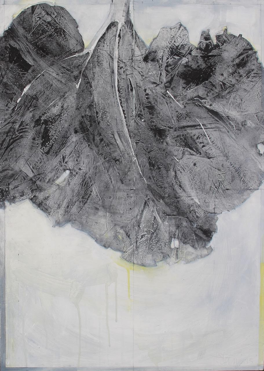 Laurie Steen RWA   Elegy drawing 13-15     50 x 70 cm   graphite & oil on hand gessoed board   £ 1250