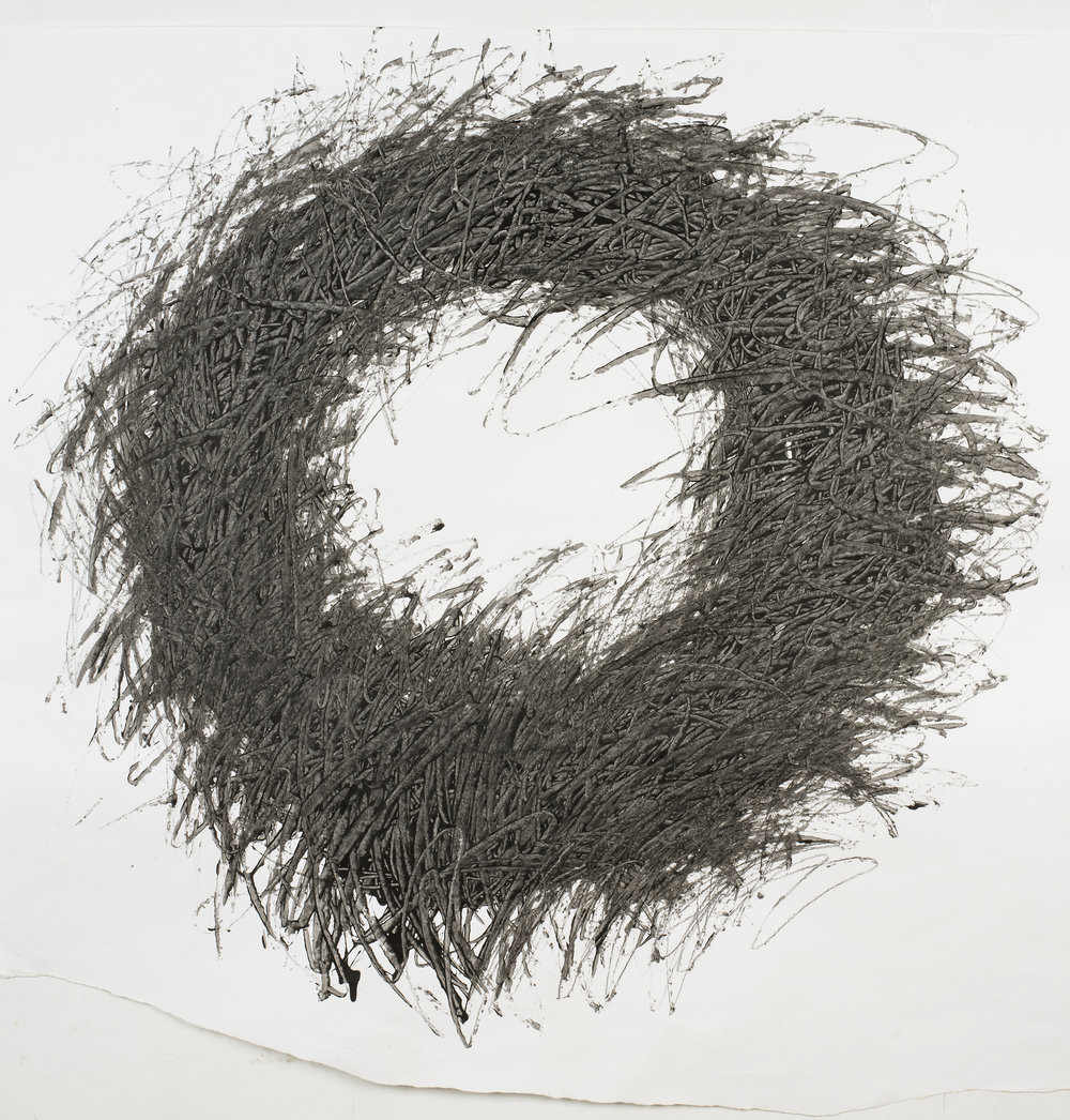 Sarah Purvey Full Circle 110 x 110 cm indian ink and acrylic on paper (framed) S O L D