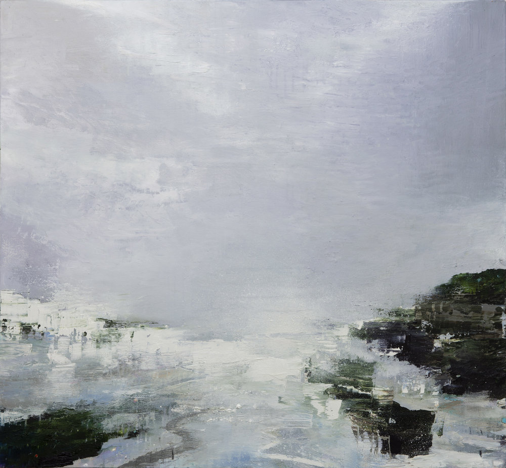 Gareth Edwards RWA Arriving by Sea, Agean Island 90 x 100 cm oil on canvas S O L D