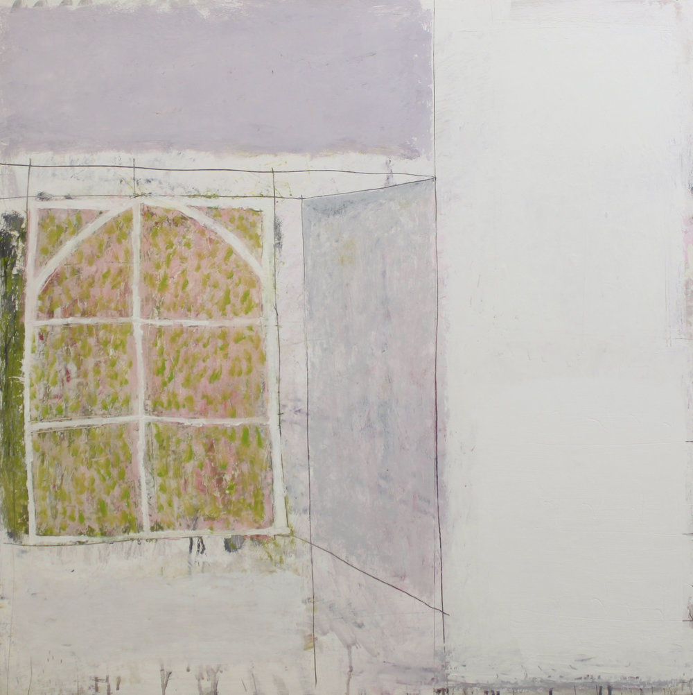 Paul Fry Studio window summer light 90 x 90 cm oil & graphite on canvas £3000