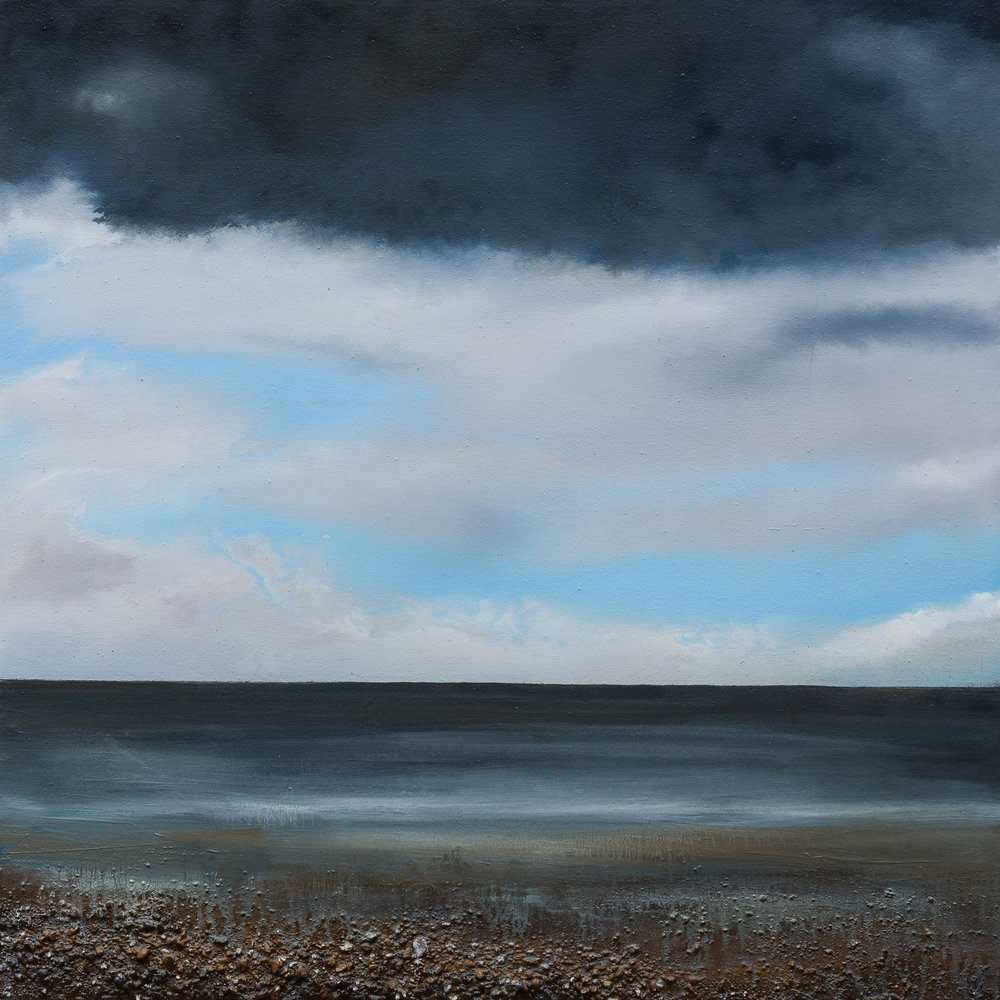 Mark Spray Into the depths 60x60cm oil & mixed media on canvas £ 2150