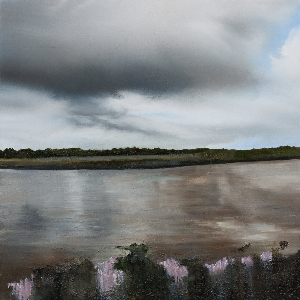 Mark Spray The denial of time 80 x 80 cm oil & mixed media on canvas £ 3500