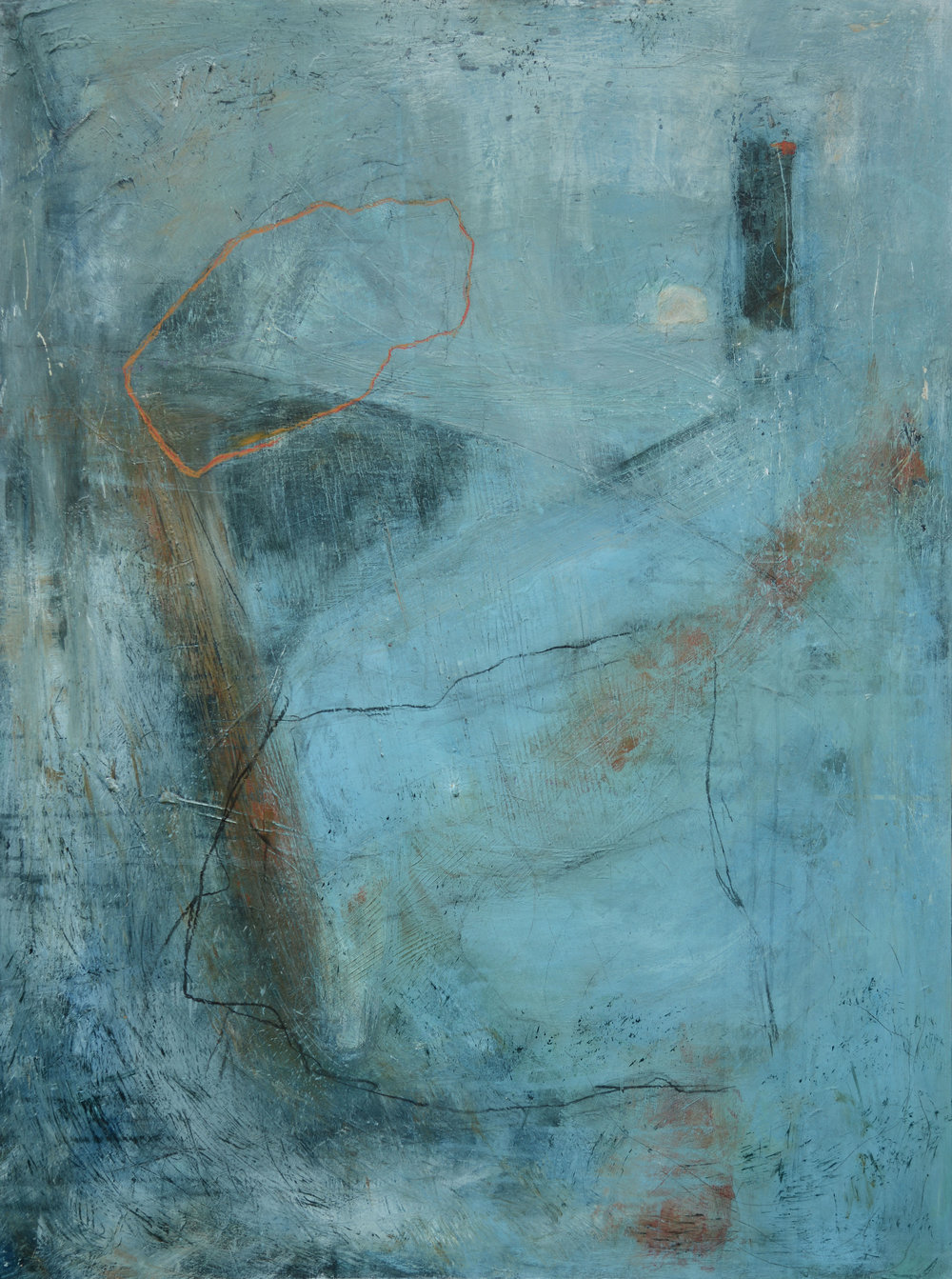 David Mankin 'Searching for the Real' 90 x 122 cm acrylic & mixed media on wood panel SOLD