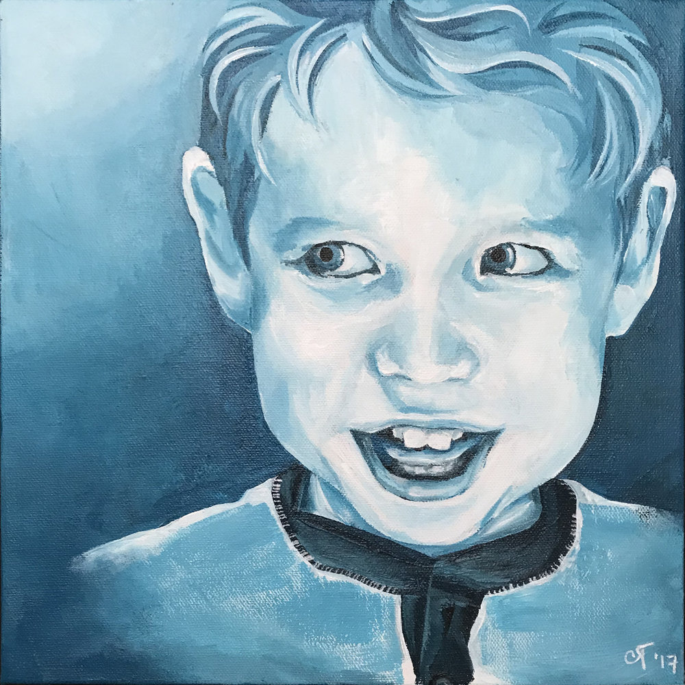 Avery        Acrylic on Canvas, 12x12