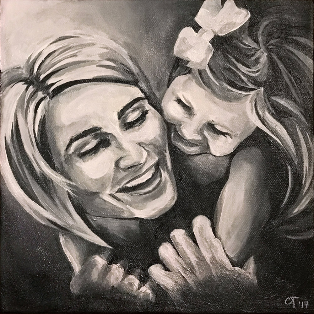 Mother and Daughter        Acrylic on Canvas, 12x12