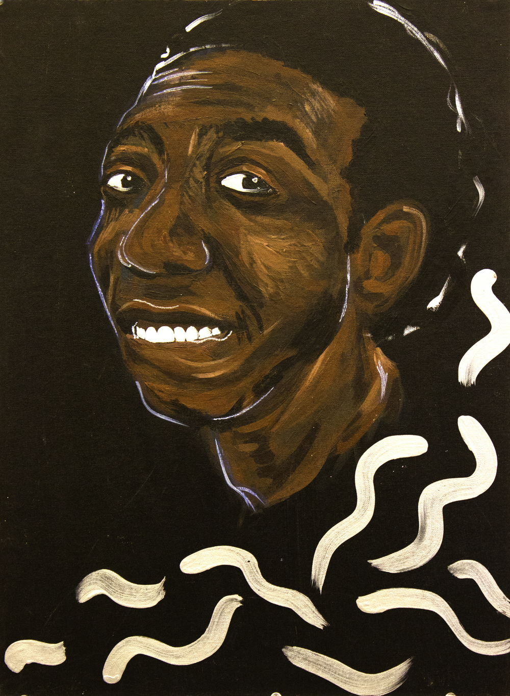 More Than Black (Tyrone)  2012, acrylic on canvas, 18in x 24in