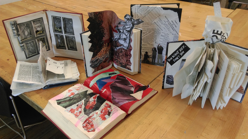 Here are some of their artist books in progress.