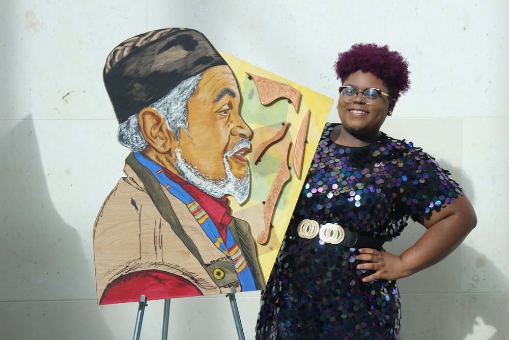 Me and one of my favorite artworks with the post artist talk glow at the Museum of Fine Arts.