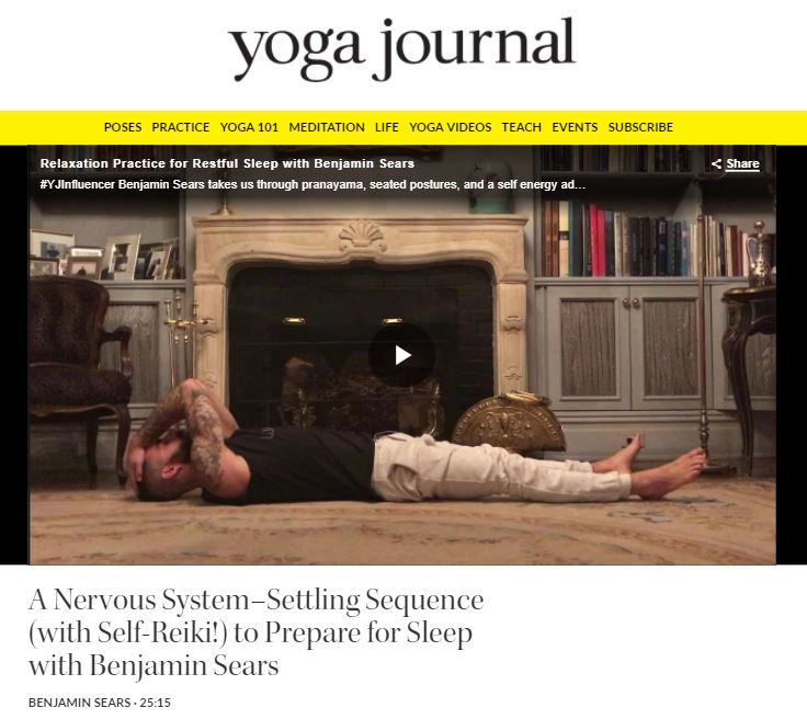 FEATURE ON YOGA JOURNAL ONLINE:Relaxation practice for restful sleep. -