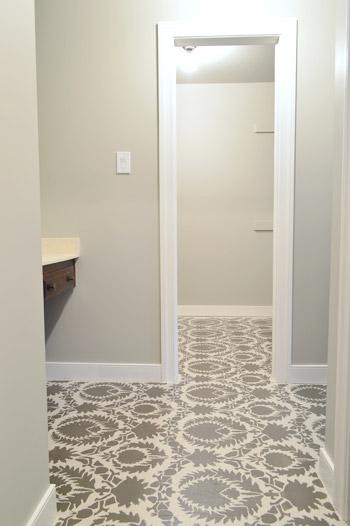 Floor Stencil Tutorial