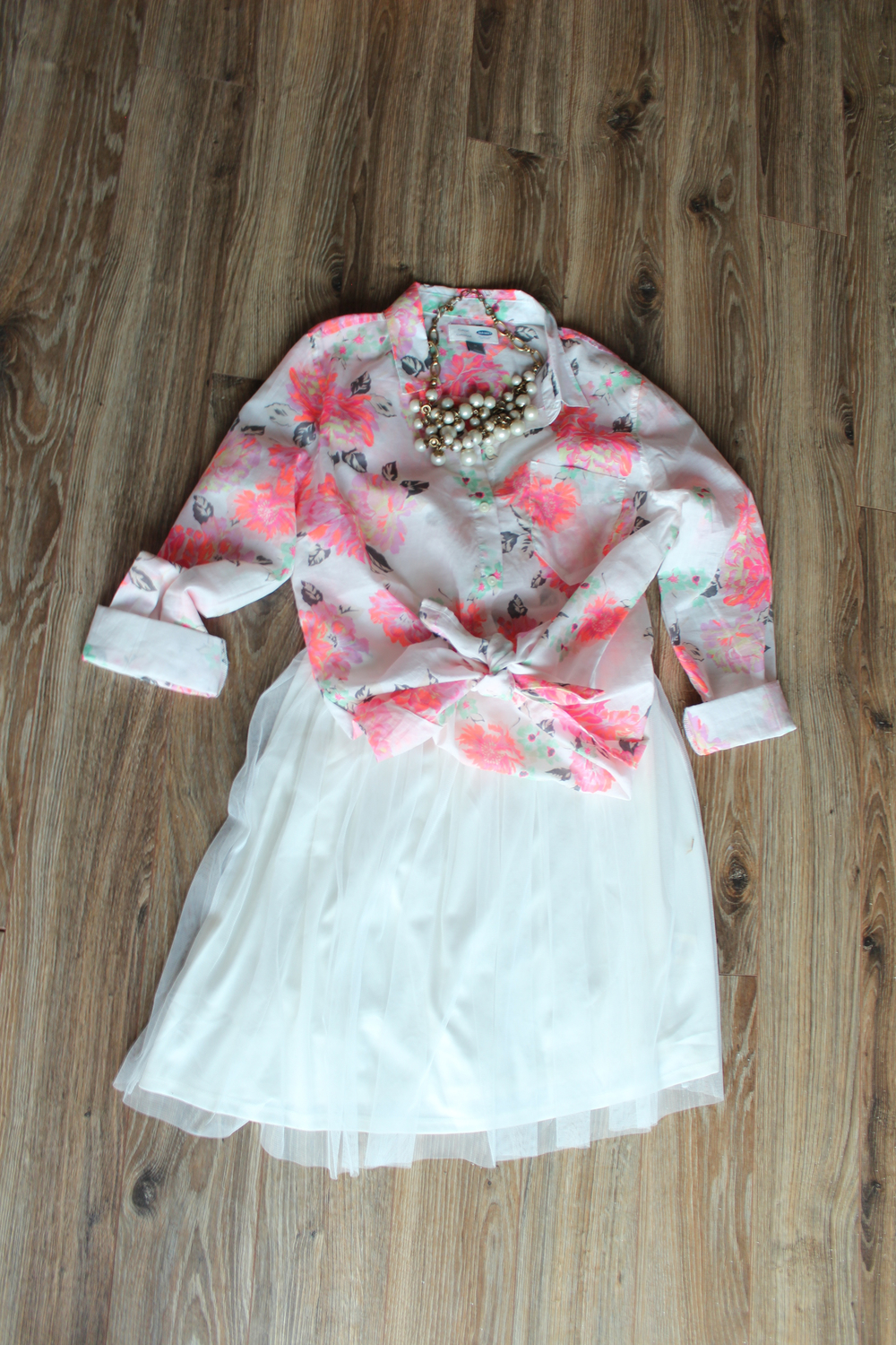 Daphne Pearl | Floral Shirt (Sold Out) | Tutu Dress