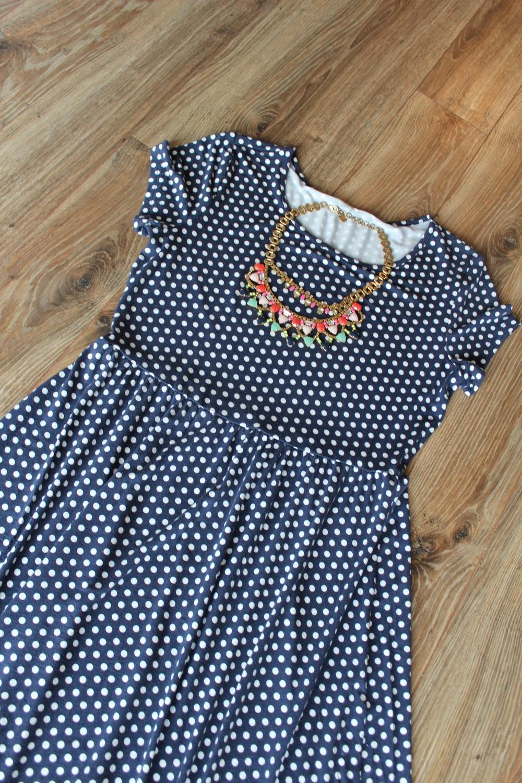 Fanella Neckalce  |  Polka Dot Dress (Similar)