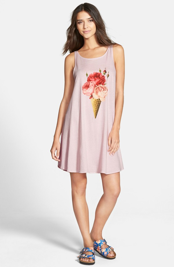 Wildfox 'Floral Cone' A-Line Tank Dress