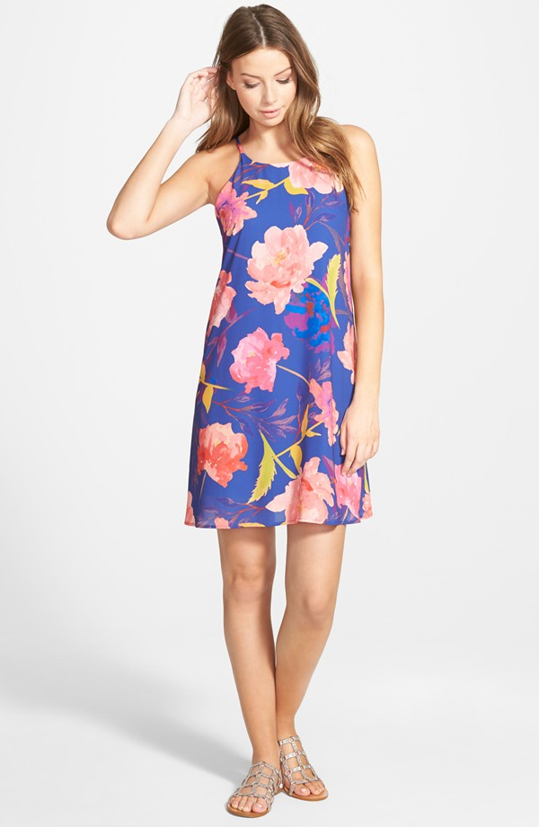 Everly High Neck Swing Dress
