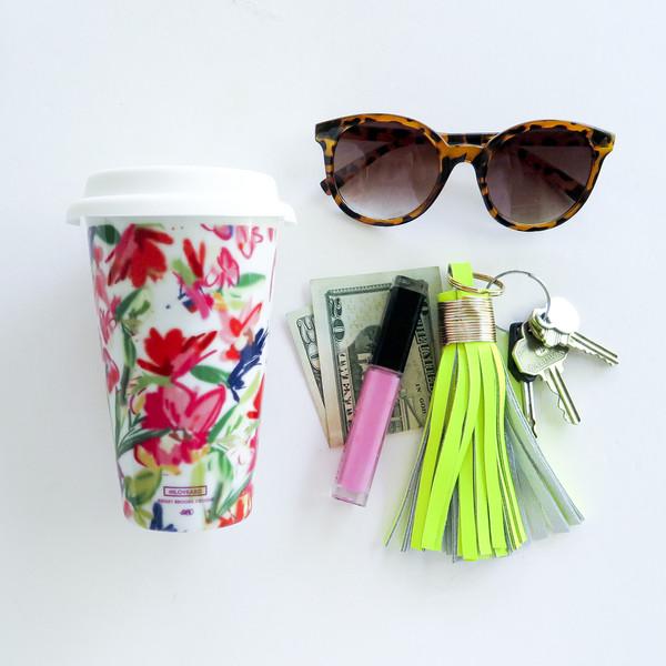 Ashley Brooke Designs: Floral Travel Mug